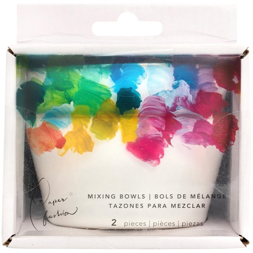 American Crafts Paper Fashion CERAMIC PAINT MIXING BOWLS Set of Two 349320 Preview Image