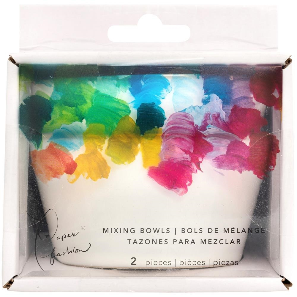 American Crafts Paper Fashion CERAMIC PAINT MIXING BOWLS Set of Two 349320 zoom image
