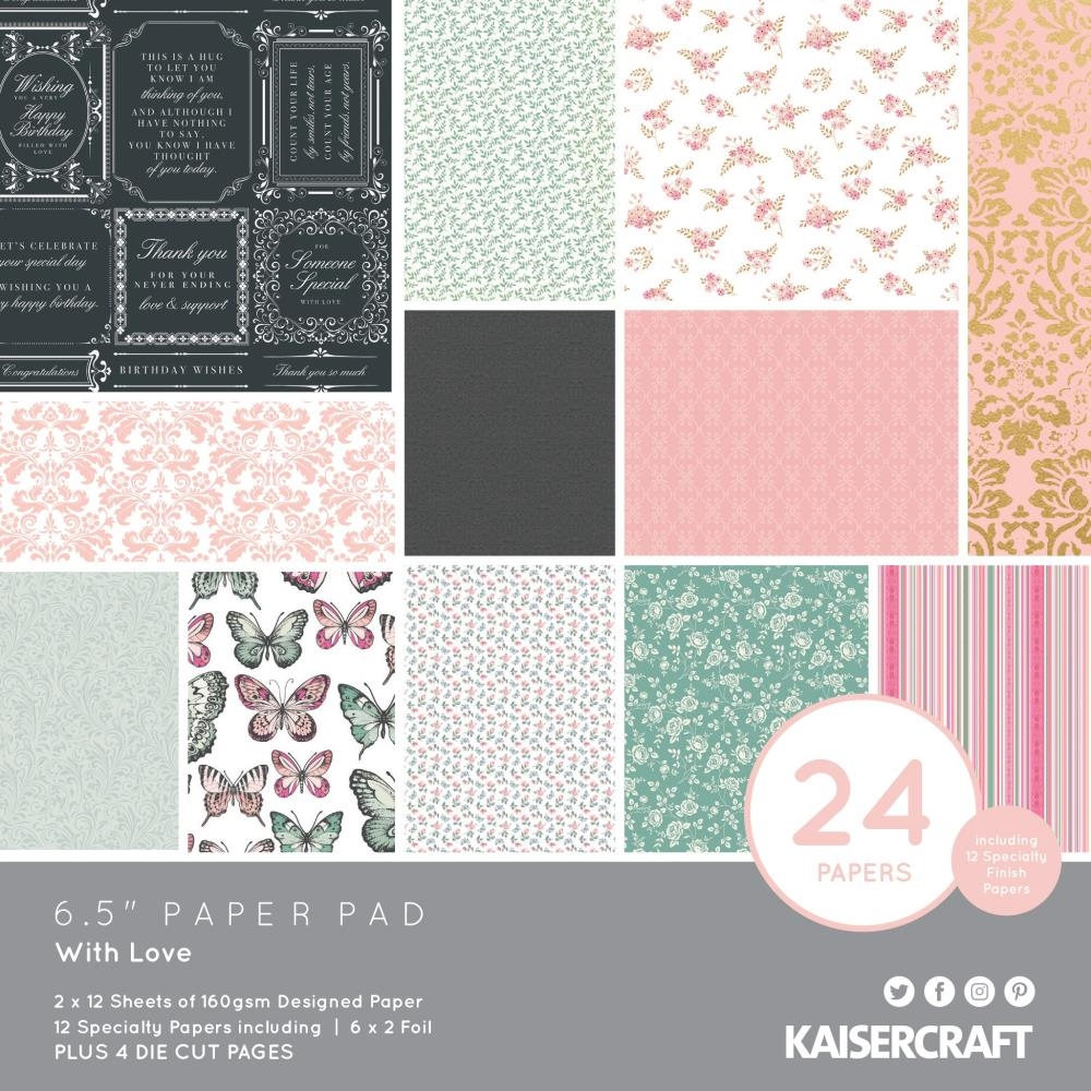 Kaisercraft WITH LOVE 6.5 Inch Paper Pad PP1068 zoom image