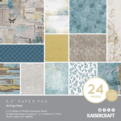 Kaisercraft ANTIQUITIES 6.5 Inch Paper Pad PP1067 Preview Image