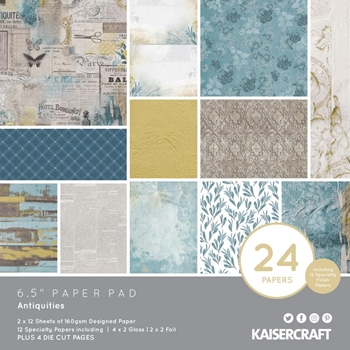 Kaisercraft ANTIQUITIES 6.5 Inch Paper Pad PP1067