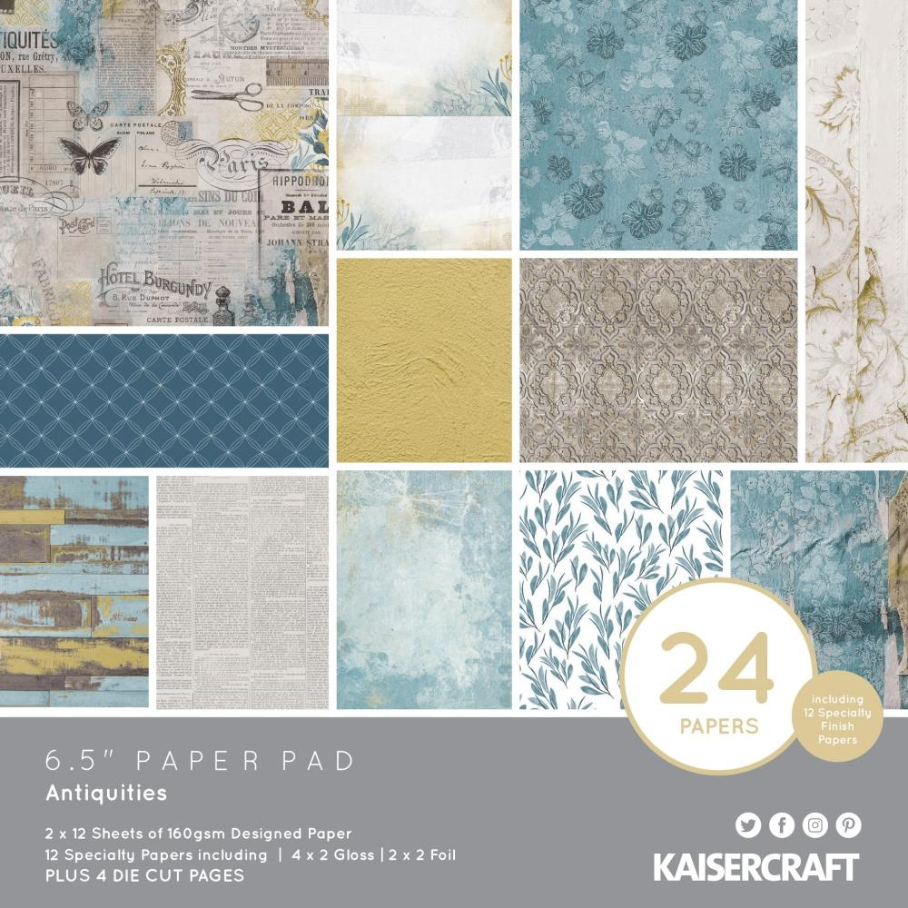 Kaisercraft ANTIQUITIES 6.5 Inch Paper Pad PP1067 zoom image