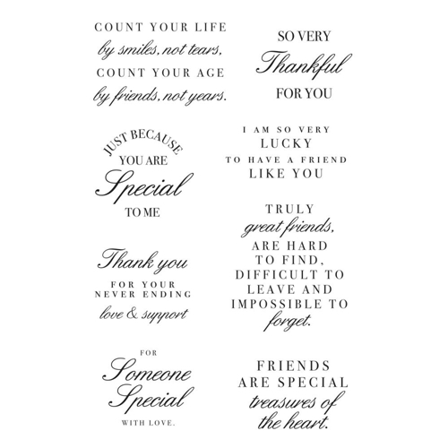 Kaisercraft FRIENDSHIP Clear Stamps CS363 Preview Image