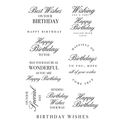 Kaisercraft BIRTHDAY WISHES Clear Stamps CS362 Preview Image