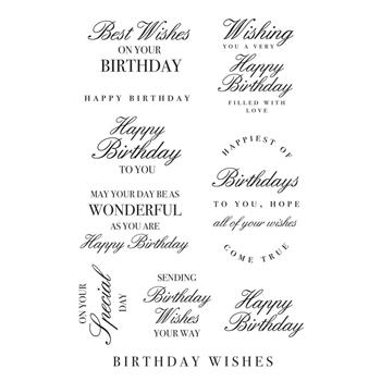 Kaisercraft BIRTHDAY WISHES Clear Stamps CS362