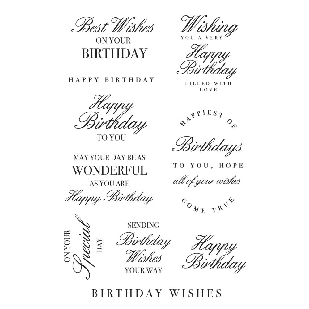 Kaisercraft BIRTHDAY WISHES Clear Stamps CS362 zoom image