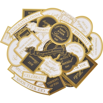 Kaisercraft WITH LOVE WHITE AND GOLD Collectables Die Cut Shapes CT962