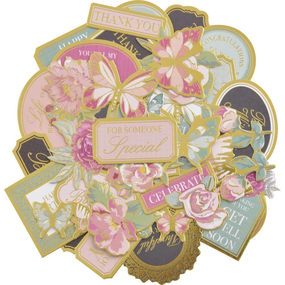 Kaisercraft WITH LOVE COLORED Collectables Die Cut Shapes CT961 zoom image