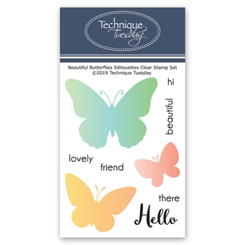 Technique Tuesday BEAUTIFUL BUTTERFLIES SILHOUETTES Clear Stamps 02786
