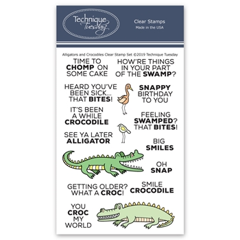 Technique Tuesday ALLIGATORS AND CROCODILES Clear Stamps 02784