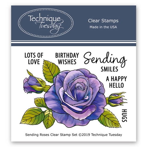 Technique Tuesday SENDING ROSES Clear Stamps 02782 Preview Image