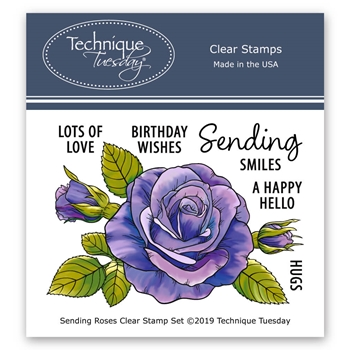 Technique Tuesday SENDING ROSES Clear Stamps 02782