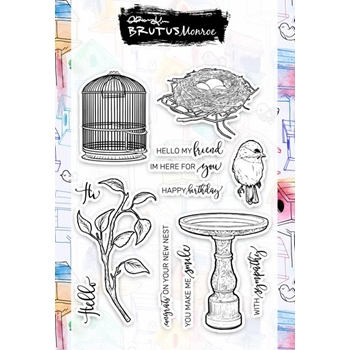 Brutus Monroe Clear Stamps FEATHERED FRIENDS bru3860