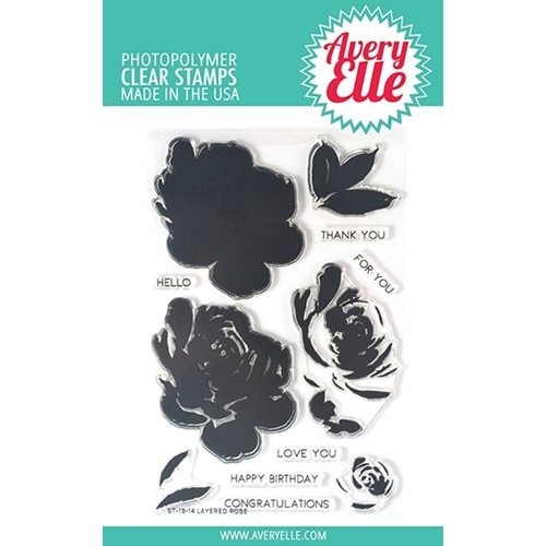 Avery Elle Clear Stamps LAYERED ROSE ST-19-14 Preview Image