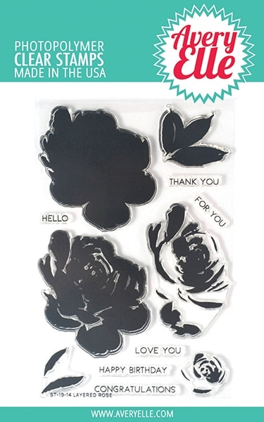 Avery Elle Clear Stamps LAYERED ROSE ST-19-14 zoom image