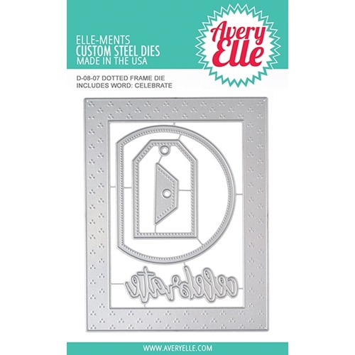Avery Elle Steel Dies DOTTED FRAME D-08-07 Preview Image