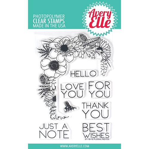 Avery Elle Clear Stamps FLORAL NOTES ST-19-15 Preview Image