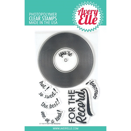 Avery Elle Clear Stamps FOR THE RECORD  ST-19-17 Preview Image