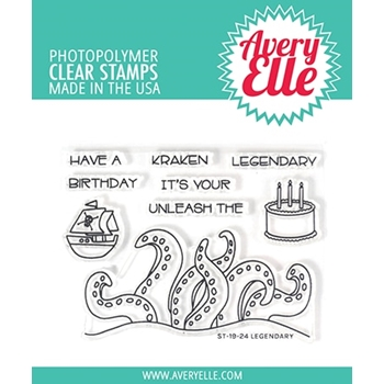 Avery Elle Clear Stamps LEGENDARY ST-19-24