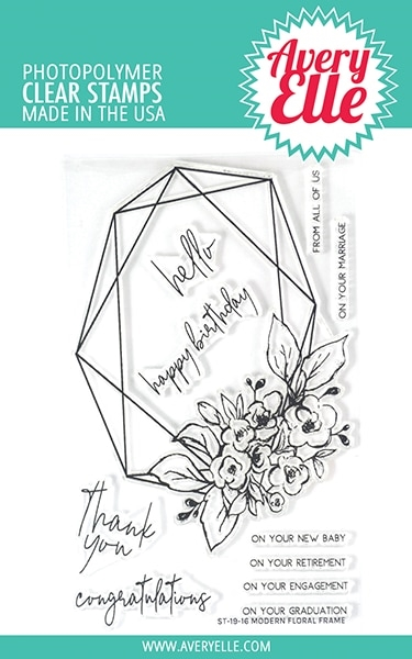 Avery Elle Clear Stamps MODERN FLORAL FRAME ST-19-16  zoom image