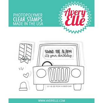 Avery Elle Clear Stamps PEEK A BOO CAR ST-19-22