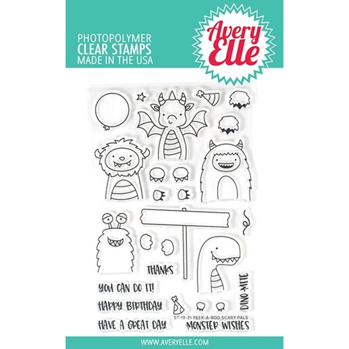 Avery Elle Clear Stamps PEEK A BOO SCARY PALS ST-19-21 Preview Image