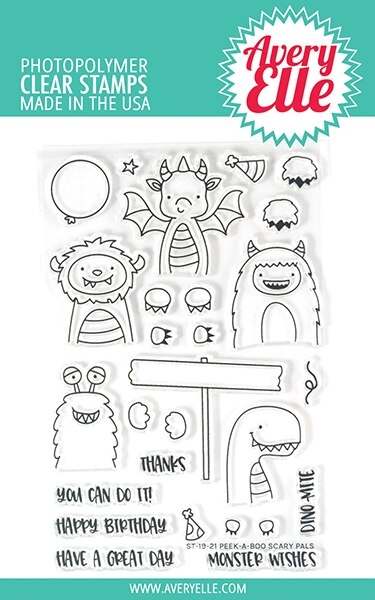 Avery Elle Clear Stamps PEEK A BOO SCARY PALS ST-19-21 zoom image