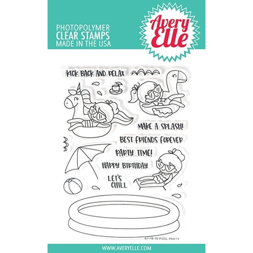 Avery Elle Clear Stamps POOL PARTY ST-19-19 Preview Image