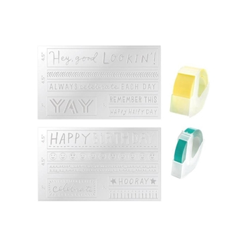 We R Memory Keepers EVERYDAY Mini Evolution Label Tape and Embossing Folder 660738