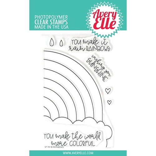 Avery Elle Clear Stamps RAINBOWS ST-19-18 Preview Image