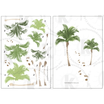 Kitchen Sink Stamps PALM TREES smc036
