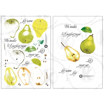 Kitchen Sink Stamps PEARS smc034