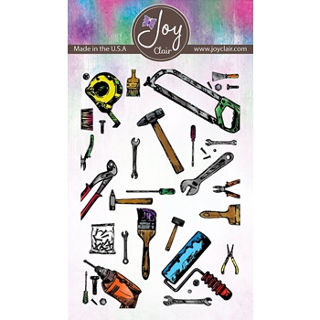 Joy Clair TOOL BACKGROUND Clear Stamp Set jc-02228-1