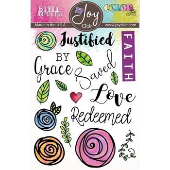 Joy Clair SAVED BY GRACE Clear Stamp Set jc-0224-2