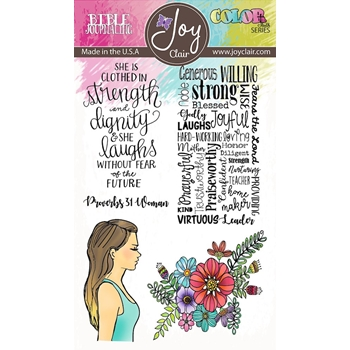 Joy Clair PROVERBS 31 Clear Stamp Set jc-02218-2