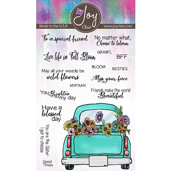 Joy Clair FRIENDS AND FLOWERS Clear Stamp Set jc-02229-1