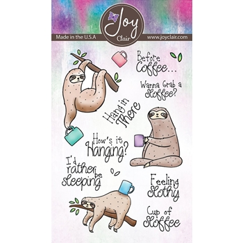 Joy Clair FEELING SLOTHLY Clear Stamp Set jc-02222-1