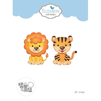 Elizabeth Craft Designs LION TIGER Craft Dies 1617