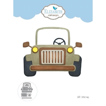 Elizabeth Craft Designs SAFARI JEEP Craft Dies 1622