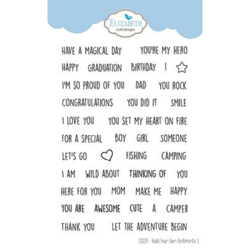 Elizabeth Craft Designs Clear Stamps BUILD YOUR OWN SENTIMENTS 1 cs139 Preview Image
