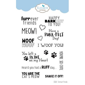 Elizabeth Craft Designs Clear Stamps FURREVER FRIENDS cs138