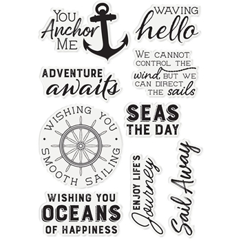 Crafter's Companion SEAS THE DAY Clear Stamp Set Nautical s-naut-st-seda