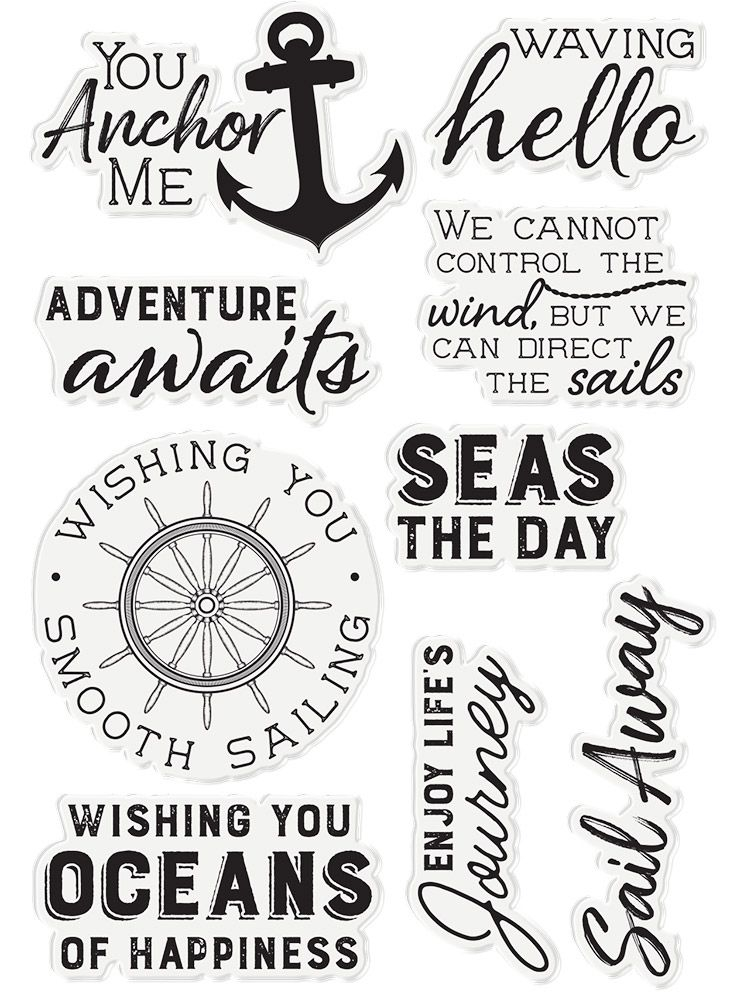 Crafter's Companion SEAS THE DAY Clear Stamp Set Nautical s-naut-st-seda zoom image