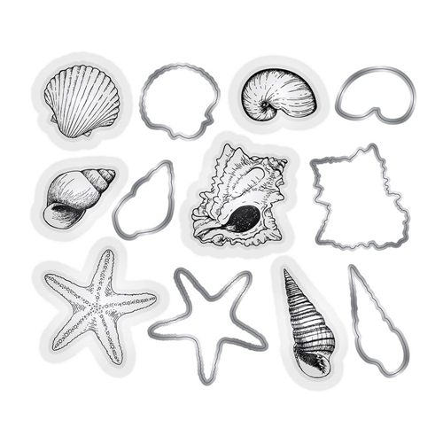 Crafter's Companion SEASHELLS Nautical Stamp And Die Set s-naut-mds-shell Preview Image