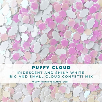 Trinity Stamps PUFFY CLOUD IRIDESCENT AND MATTE CONFETTI MIX Embellishment Bag 58903402