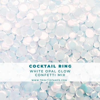 Trinity Stamps COCKTAIL RING OPAL SHEEN CONFETTI MIX Embellishment Bag 160459