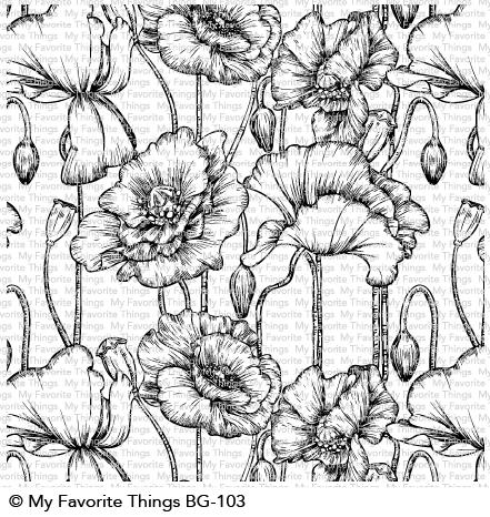 My Favorite Things POPPIES Background Cling Stamp BG103 Preview Image