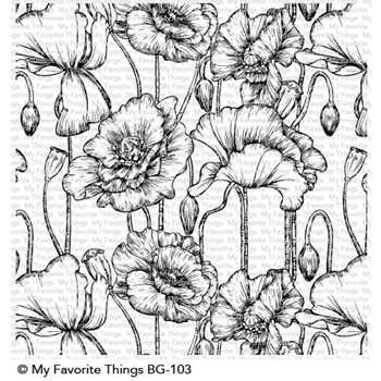 My Favorite Things POPPIES Background Cling Stamp BG103