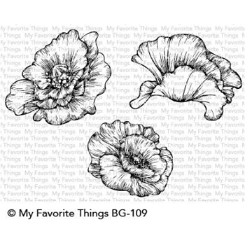 My Favorite Things POPPY BLOOMS Cling Stamps BG109
