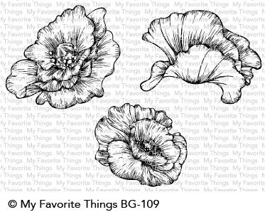My Favorite Things POPPY BLOOMS Cling Stamps BG109 zoom image